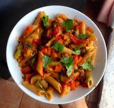 RED LENTIL PASTA RECIPE WITH EXOTIC VEGIES IN JUST 40 MINUTES….